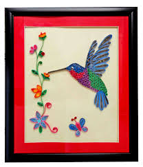 Small Picture Buy Quilled Frame Of Flying Humming Bird Online Craftsvilla