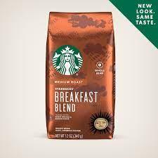 Starbucks medium roast whole bean coffee — breakfast blend — 100% arabica — 6 bags (12 oz. Breakfast Blend Lighter Roast Coffee Starbucks Coffee At Home