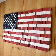 usa american flag wall art rustic