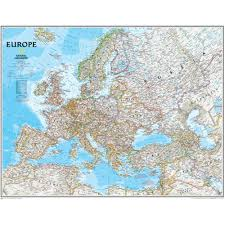 europe wall map 30 x 24 ngmre00620167 national geographic maps social stus maps map skills