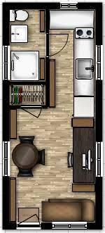 Small Picture 8 x 19 tiny house floor plans with loft above stairs or