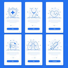 Set Of Six User Interface Templates Layout For Health And