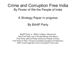 a corruption by baap party of people of