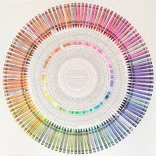 Crayola Colour Chart By Jamie Shovlin