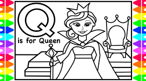 Feel free to print and color from the best 38+ queen coloring pages at getcolorings.com. Alphabet Coloring Page Q Is For Queen Queen Coloring Pages For Kid Children Drawing Learn Colors Youtube