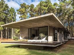 home office pod. Cool Concrete Summer Home Sits Among A Sea Of Trees This Situated In Seaside Resort South Buenos Aires, Argentina, Blends Clean Modernist Office Pod
