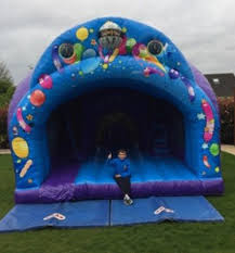 curved slide curved slide party combo 15ft x 15ft dublin bounce castles for hire