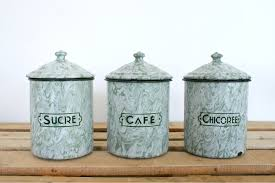 French Canisters Kitchen Art Deco Enamel Canisters Sold My French Finds