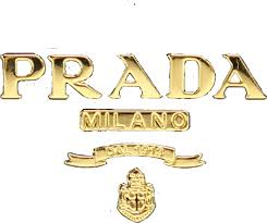 prada gold logo sticker remixit luxury png vintage...