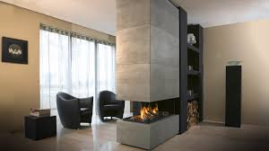suspended gas fireplace