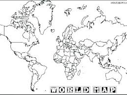 World Coloring Page Map Coloring Pages Colouring World World