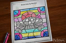 Download the free printable in full color or black & white to color in! Free Pirate Color By Number Worksheets