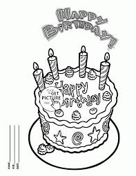 Small Picture Happy Birthday Cake Card for Friends coloring page for kids