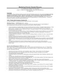 Resume Resume Samples For Marketing
