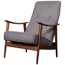 cushion inserts stratolounger recliner dining room elegant vintage style living furniture high back danish modern teak wood armchair with gray
