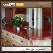 custom ruby red granite kitchen countertops