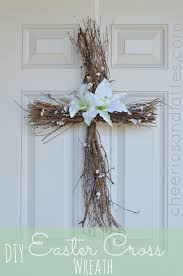 let your neighbors know that your house belongs to belongs to with this beautiful diy cross door wreath this is perfect for holy week