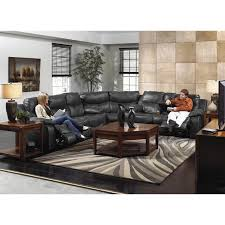 catnapper catalina 3 piece power reclining leather sectional in steel 64311 4318 64319 122728302728 kit