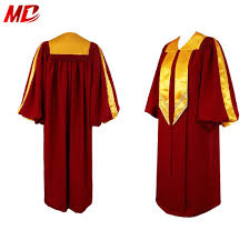 Choir Robe Size Chart Factory Sale Elegant Maroon Deluxe Choir Robes With Gold Trim For Church