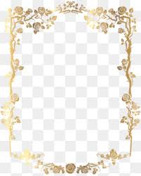 Image Vintage Material Gold Border Golden Frame Border Png Image And Clipart Pngtree Golden Frame Png Images Vectors And Psd Files Free Download On