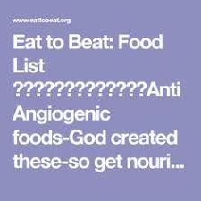 Anti Angiogenic Foods