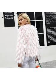 simplee fluffy warm faux fur coat women fake fur short winter coat female 2017 autumn chic