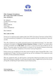 Offer Letter Stunning Offer Letter Format Of Job Fresh Appointment Letter Format For It