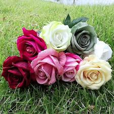 2019 lin man hot diameter 8cm artificial velvet roses for home bouquet wedding party craft diy artificial flowers decor from linmanflower