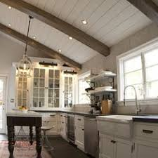 vaulted kitchen ceiling lighting. Plank Vaulted Ceiling Design Ideas, Pictures, Remodel, And Decor - Page 2 Kitchen Lighting E