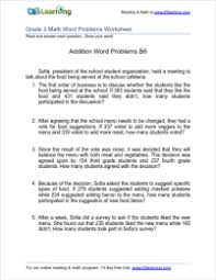 Grade 3 Addition Word Problem Worksheets | K5 LearningSimple addition word problem worksheets Grade 3 addition word problem worksheet