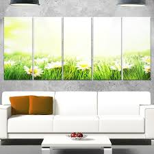 >shop designart spring meadow with daisies large animal metal wall  designart x27 spring meadow with daisies x27 large animal metal wall