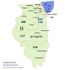 Map Of 217 Area Code Area Code Chart Area Code Map