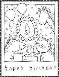 Happy Birthday Card Printable Coloring Pages Happy Birthday