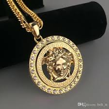 medusa pendant whole new arrival necklaces for men hot jewelry gold plated luxury accessories diamond heart