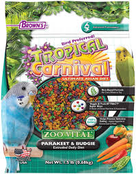 Tropical Carnival Zoo Vital Rice Based Parakeet Budgie
