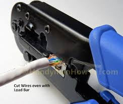 how to wire a cat6 rj45 ethernet plug handymanhowto com cat6 rj45 modular plug wiring cut wires even load bar