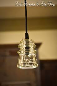 diy glass insulator pendant lights dust bunnies and dog toys