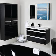black and white bathroom furniture. Duo Black And White Bathroom Furniture