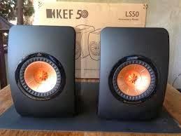 kef ls50 home theater. kef ls50 dapat di sandingkan dengan computer sebagai media audio atau front home theater. kef ls50 theater