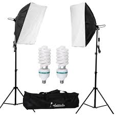 abeststudio 2 x 135w continuous lighting kit 50x70cm softbox soft box photo studio set light bulbs