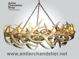 hampton bay antler chandelier chandeliers 5 light hanging natural
