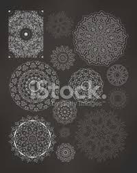 Henna Tattoo Doodle Vector Elements On White Background Premium