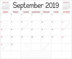 Year 2019 September Planner A Monthly Planner Calendar For