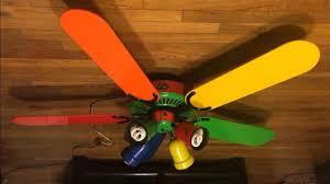 hampton bay carousel ii ceiling fan ceiling fans colored fan light bulbs multi with lights shades