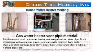 Gas Hot Water Heater Vent Hot Water Heater Venting How To Vent A Gas Water Heater Youtube