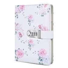 ARRLSDB A5 Creative Password <b>Lock Diary</b> PU <b>Leather Journal</b>