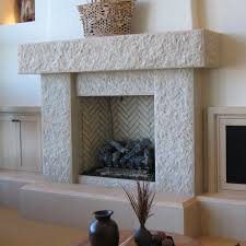 awesome contemporary white stone fireplace mantels ideas with cool white tile pattern chevron inner hearth with