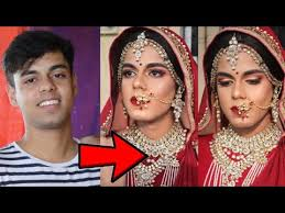 boy to hindu indian bridal makeup