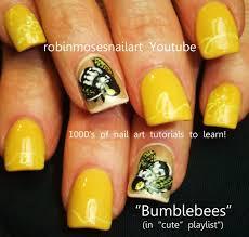 DIY Queen Bee Nals   Bumblebee Nail Art Design Tutorial - YouTube