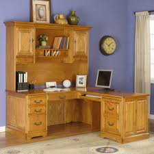cool home office ideas mixed. Light Brown Varnished Oak Corner Desk Mixed Blue Painted Wall With Home Office Furniture L Shaped Also Desks For Wood Working Decor Classy Carved Cabinet Cool Ideas U